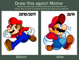 Before and After with Mario by JamesmanTheRegenold