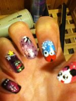 Nails of awesomnes.......or maybe not :P by Darklinknrone