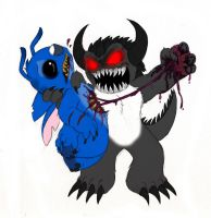 Stitch VS. Dark Devil by Mickeymonster