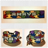 Amaya's Autism Awareness Bracelet by ravenarcana