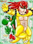 Bowser and Yoshi by Bowser2Queen