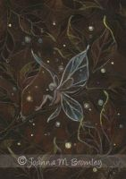 ACEO Gold Leaf Pixie by JoannaBromley
