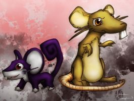 Ratata, Raticate by Phillippeaux