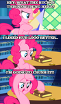 Pinkie doesn't like Discovery Family... by ThrashYourArt