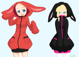 open hoodie collab by Puccawitch