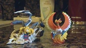 Giritina and Ho-oh Figures by jedipadawandaniel