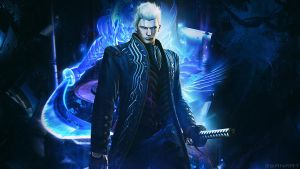 Devil May Cry 4 SE Vergil wallpaper by TheSyanArt