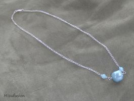 Chunky Blue Beaded Necklace by mizufusion