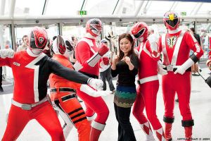 Power rangers at the Expo. by saphire