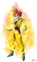 Real Goku Super Saiyan God by XYelkiltroX