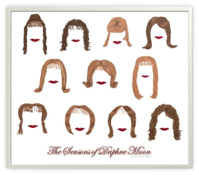 Daphne Moon - 11 Seasons of Hairstyles by Daryl-the-cartoonist