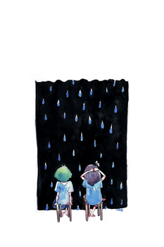 rain watching by weewill