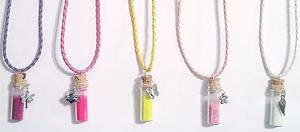 Glass Vial Necklaces by cupcakekitten20