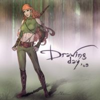 Drawing Day 2009 : Robin Hood by abc142