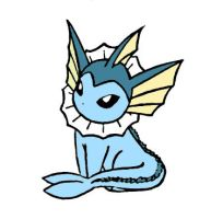 Little Vaporeon by sunnyfish