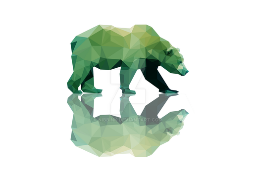 Low Poly Grizzly (Print Now Available) by Nibbink