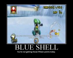 Motivator: Blue Shell by Super-Mario-Whirled
