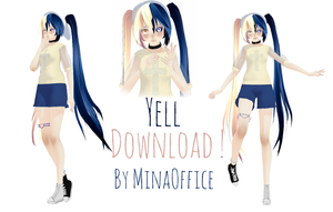 MMD Model Download - Yell by MinaOffice