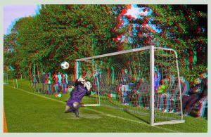 Soccer 3D Anaglyph by zour