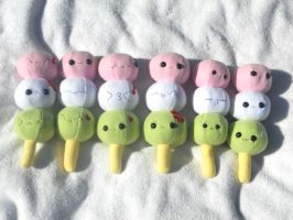 Dango Plushies for Akon by Love-Who