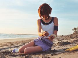 Kairi in the sand by Shiya