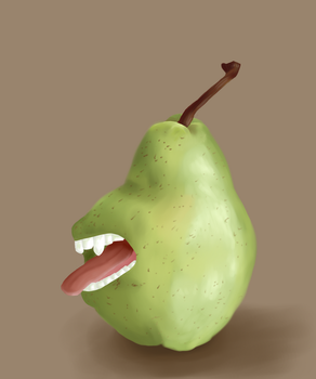 The Biting Pear Fan art by AngelInTheHeart