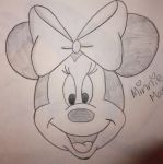 Minnie Mouse drawing by chloesmith8