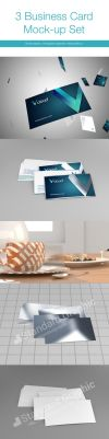 3 business card mock up set by SDMD