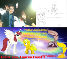 Thank You, Lauren Faust!! by m3Atl0afman