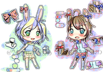 [1 PT SB] Usagimimi Adoptables [OPEN] by Ruerie
