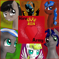 Pony commission - Hiro Army by FuriarossaAndMimma