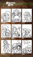 GajeelxLevy Hairstyle Meme by acidic-fire