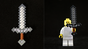 LEGO 3D Printed Painted Minecraft Sword by mingles