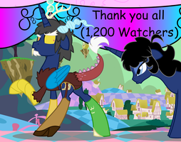 A Discorded 1.200 View Thank You by EvilFrenzy