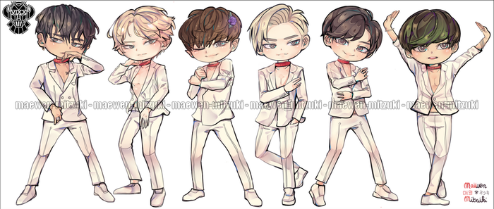 VIXX - CHAINED UP_CHIBI. by MaewenMitzuki