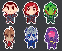 MASS EFFECT STICKERS by DisfiguredStick