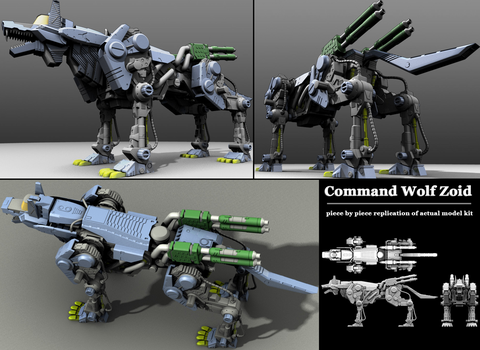 Command Wolf Zoid Model by inactionjackson