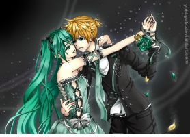 Miku x Len: Every Rose Has Thorns by Yubi-Yubi
