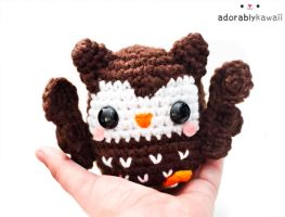 cute brown owl amigurumi 3 by adorablykawaii