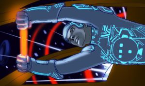 TRON Light Cycle Battle by Sketchviper