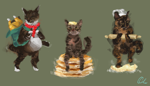 The Cat Gang by colesprout