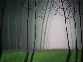 Deserted forest by kirstleberry