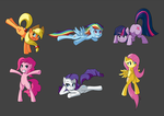 The Mane 6 by Nac0n