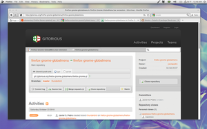 Firefox with Global Menu by spliceosome