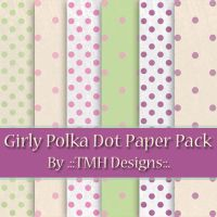 Girly Polka Dot Paper Pack by frenzymcgee