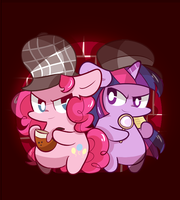 Detective pinkie pie , Assistant twilight by ILifeloser