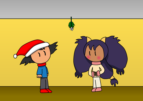 Negai - Under the mistletoe by keaton-furman-prower