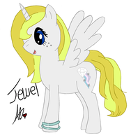 Drawing of Jewel by JewelThePonyLover12