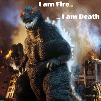Godzilla is Fire, Godzilla is Death by TheSpiderAdventurer