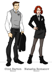 S.H.I.E.L.D. Academy - Clint and Natasha by bechedor79